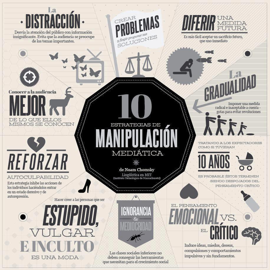 10 estrategias de manipulación mediática frase