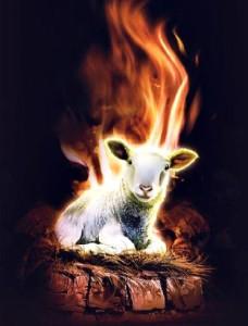 Cordero altar fuego