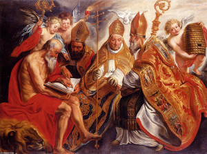 Jacob-Jordaens-The-Four-Fathers-Of-The-Latin-Church-padres-iglesia