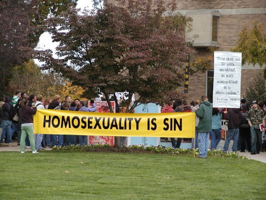 Homosexuality is sin banner at WCU