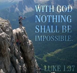 Nada es imposible para Dios frase inglés