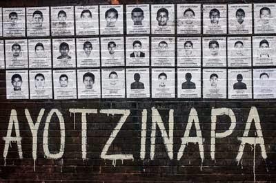 Homenaje a los 43 estudiantes normalistas asesinados y desaparecidos