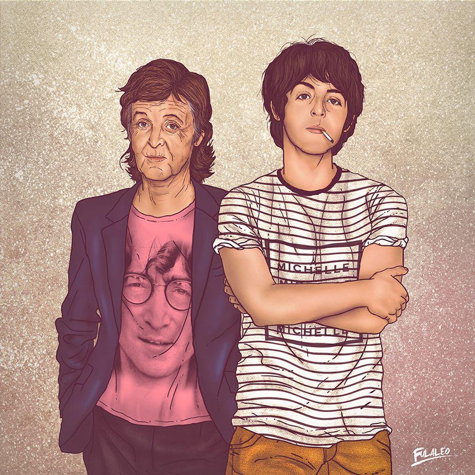 Paul McCartney art fulaleo
