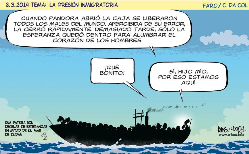 patera.inmigrantes.mar.caja.pandora.esperanza